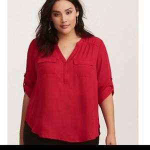 Torrid Harper red blouse